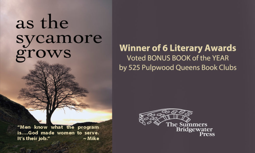 As the Sycamore Grows book cover with awards, Ginger's story, told by Jennie